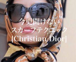 今更聞けない スカーフテクニック [Christian Dior]